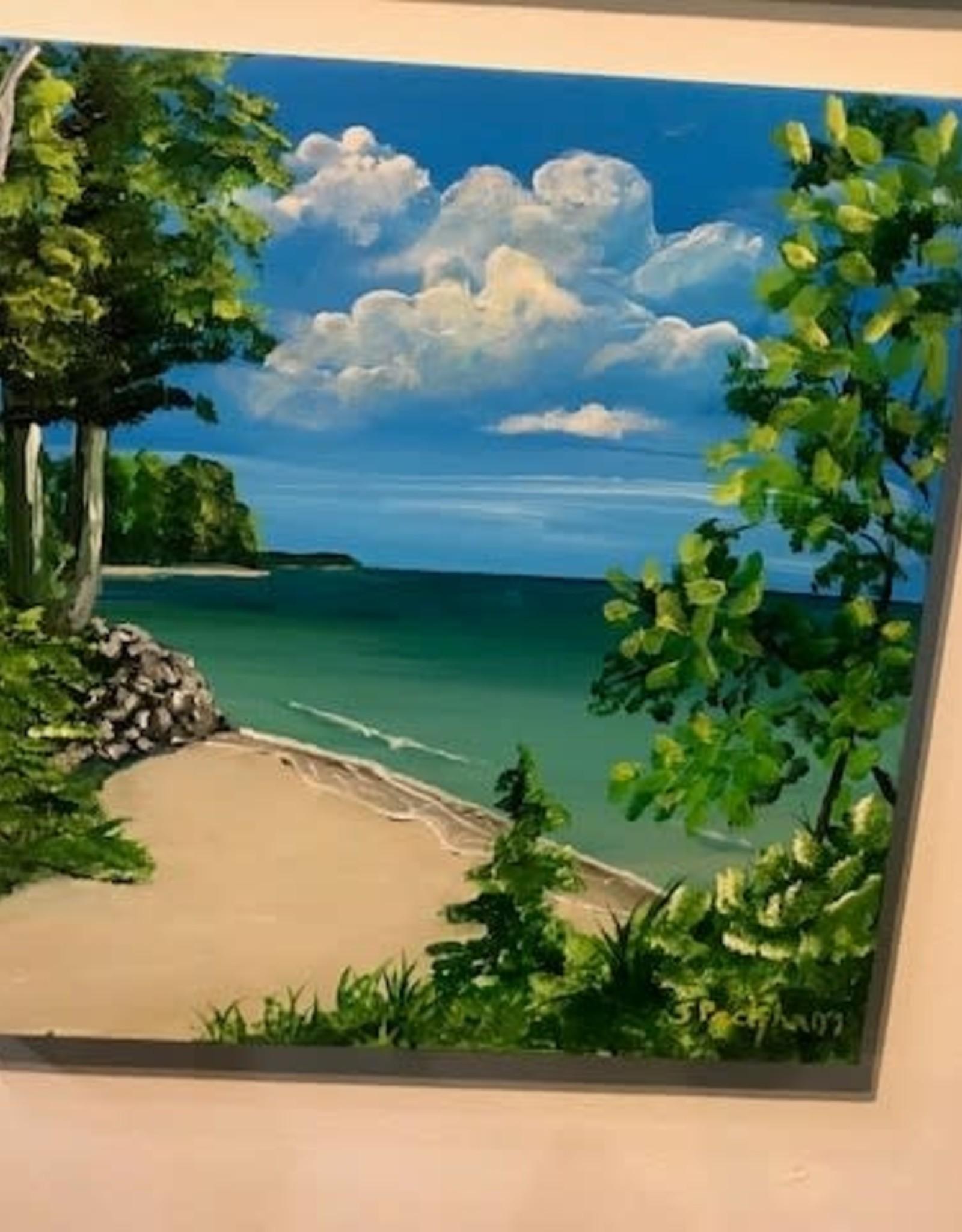"""A View of Suttons Bay"" - Original Acrylic 12x12"