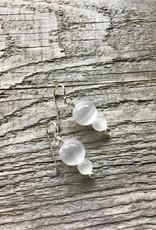 French Hook Earrings - Selenite