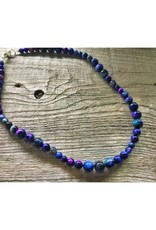 Beaded Necklace - Rainbow Tiger's Eye 19 inches