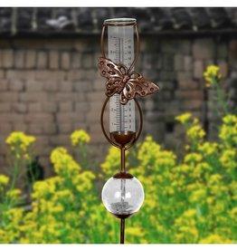Rain Gauge - Bronze Butterfly