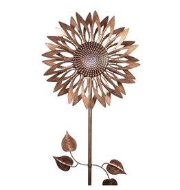 Kinetic Spinner Stake - Bronze Sunflower