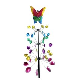 Wind Spinner Stake - 3-Tier Vertical Butterfly