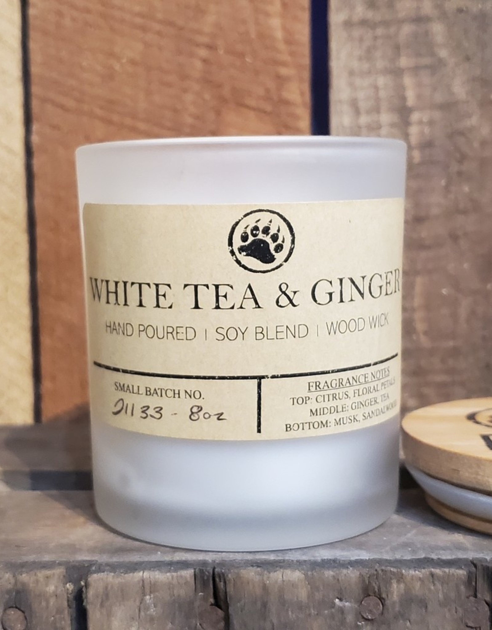 Bear Naturals Handpoured Soy-blend Candle - White Tea & Ginger