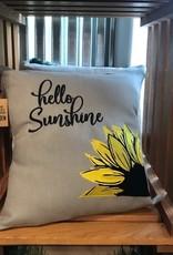 Bear Den Handmade Embroidered Pillow - 19'' Hello Sunshine Sunflowers
