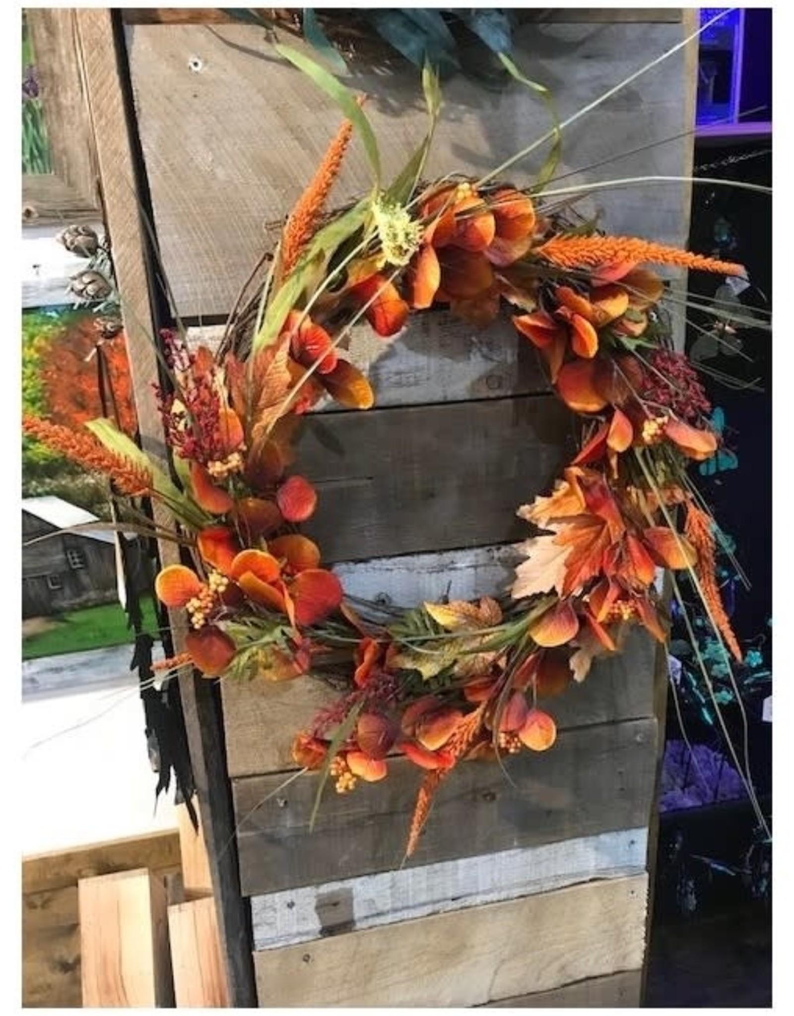 Bear Den Handmade Harvest Wreath - 14'' Rich Harvest