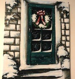 """Nanglow Fine Art """"Soft Snowfall"""" 24x30 Nancy Farley Original"""