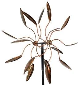 Kinetic Wind Spinner Stake - Bronze Leaf