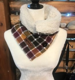 Bear Den Handmade Sherpa & Flannel Neck Warmer - Cider