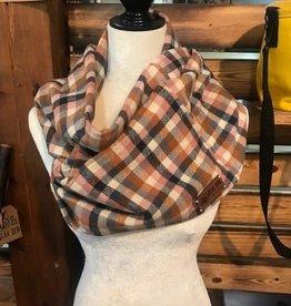 Bear Den Handmade Flannel Infinity Scarf - Nutmeg