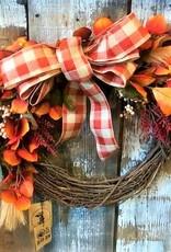 Bear Den Handmade Wreath - 14'' Harvest w/Bow