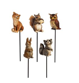 Woodland Animal Planter Stakes