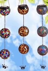 Hanging Solar Mosaic Decorative Globes