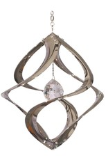 Wind Spinner - 11 Inch Chrome with Crystal