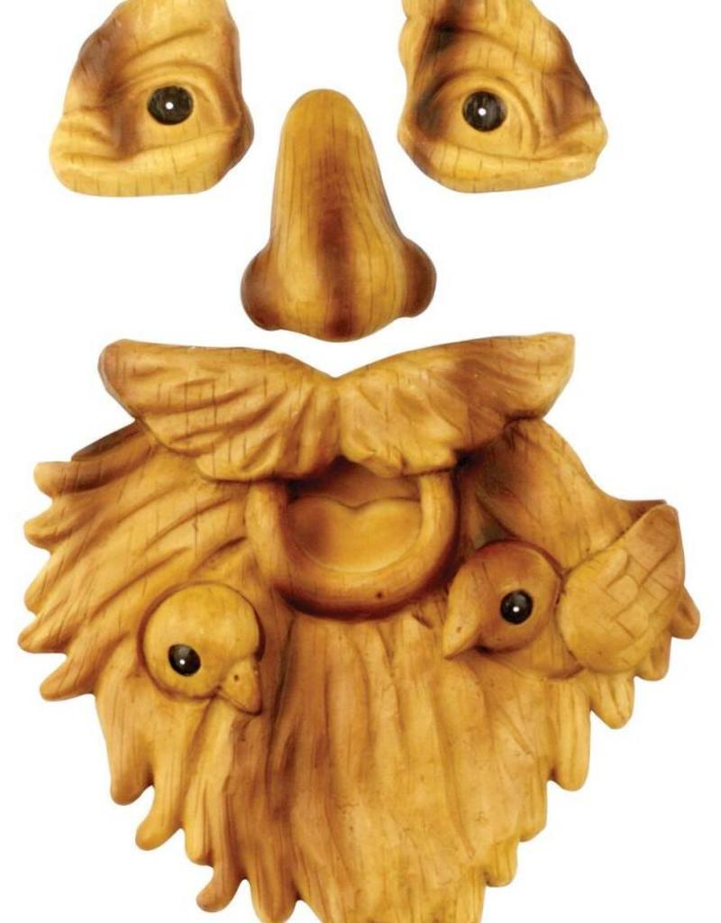 Tree Face - Old Man with Birds