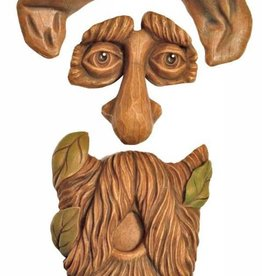 Tree Face - Old Man with Leaves