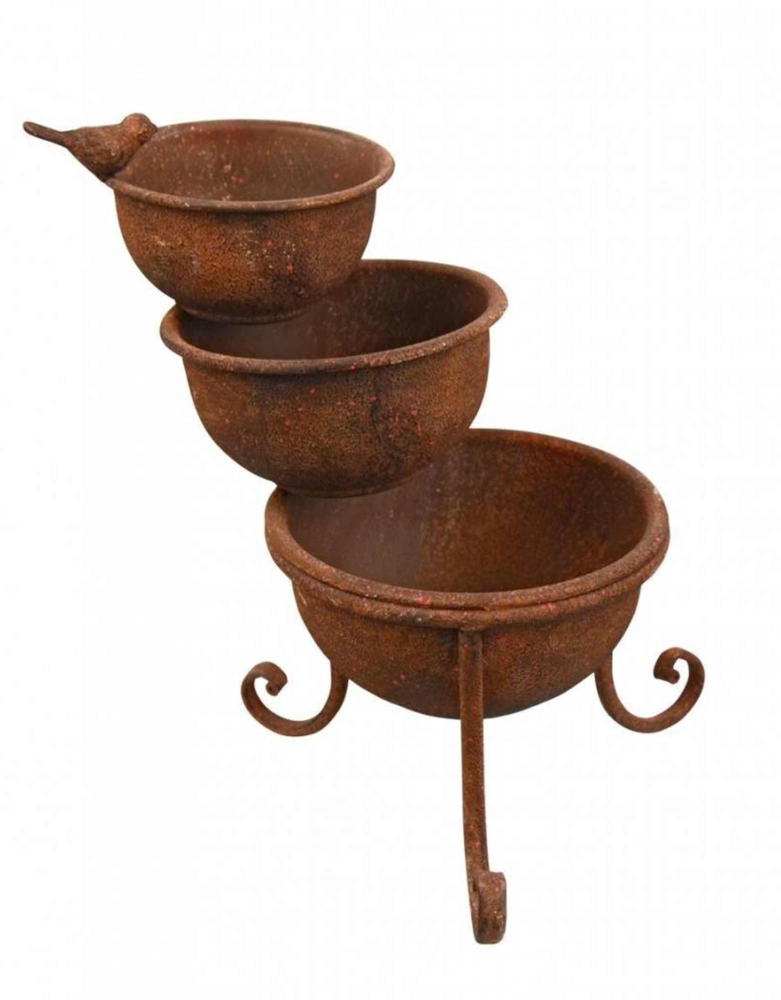 Small Cascading Planter with Bird