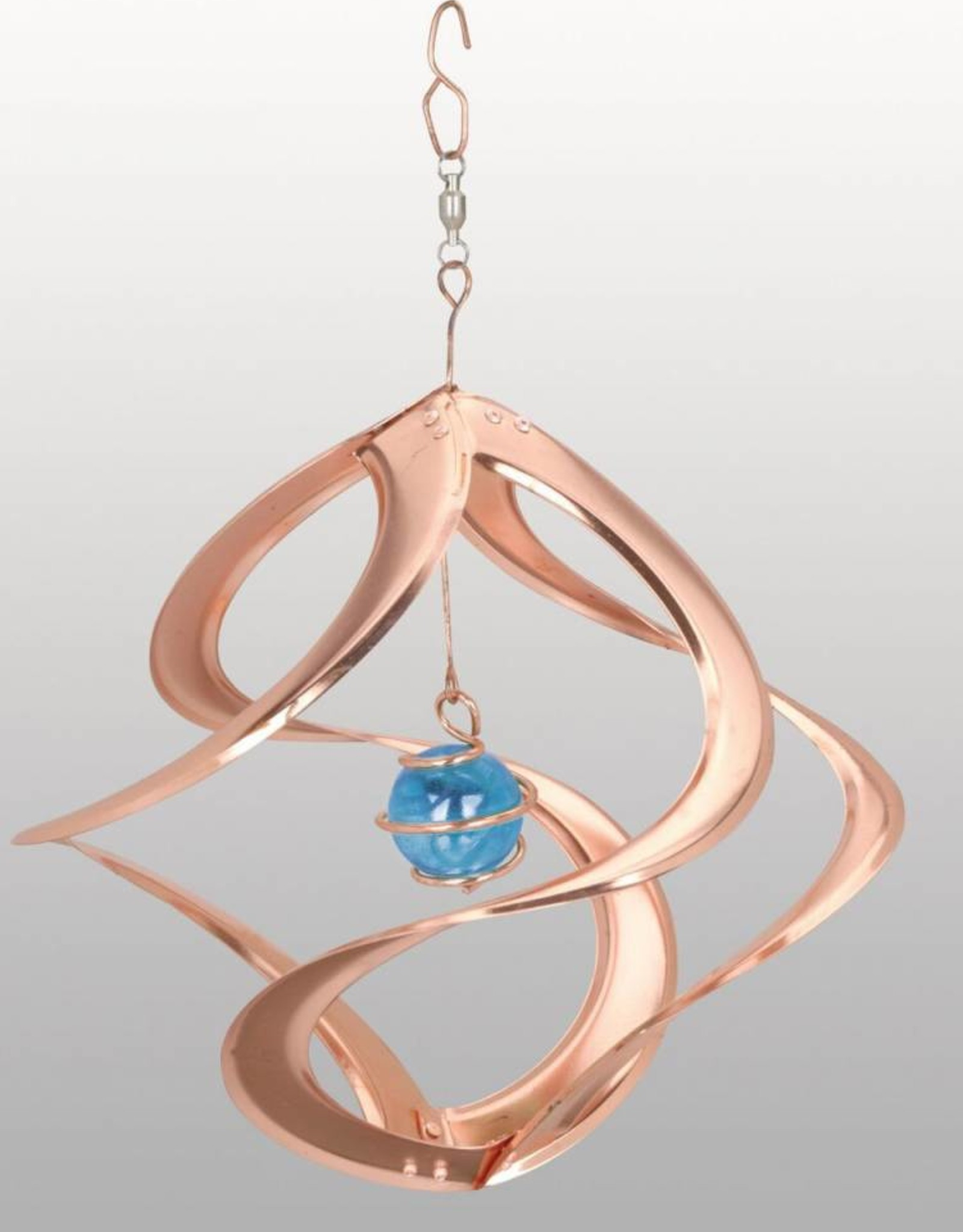 Bear Den Helix Hanging Helix - 11 Inch Copper with Blue Glass