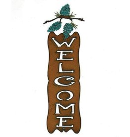 Welcome Sign - Pinecone