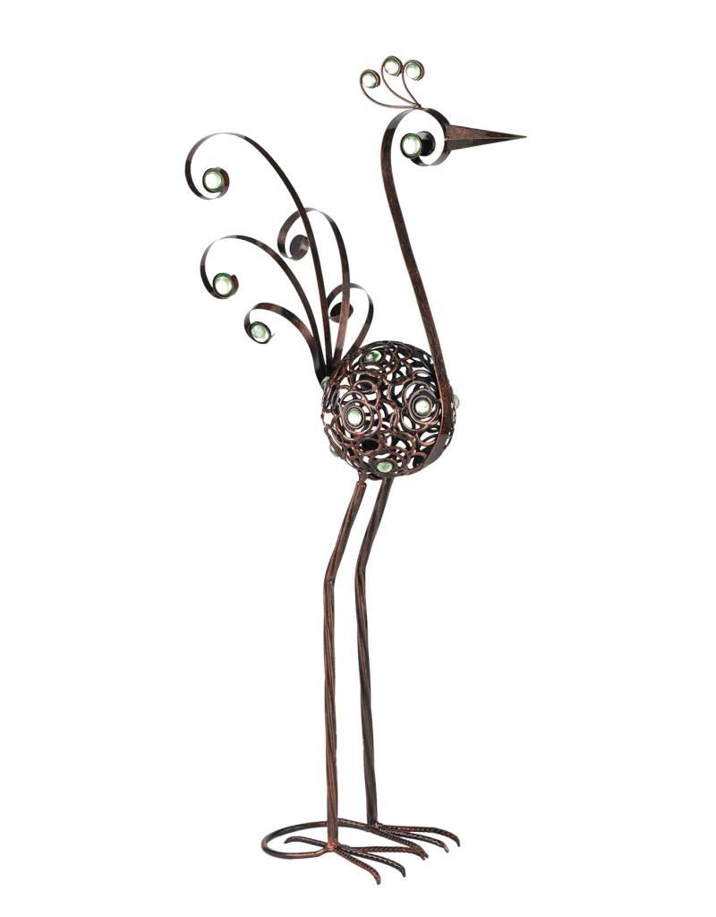 Bird Statue - 28 Inch Bronze Filigree Bird