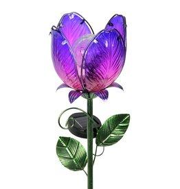 Solar Flower Garden Stake - Purple