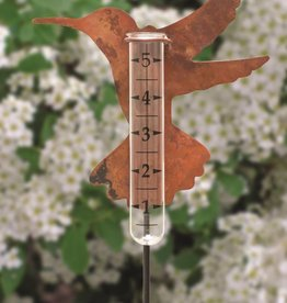 Copper Hummingbird Rain Gauge