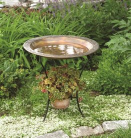 Bird Bath - 2 Tier Flamed Finish Birdbath