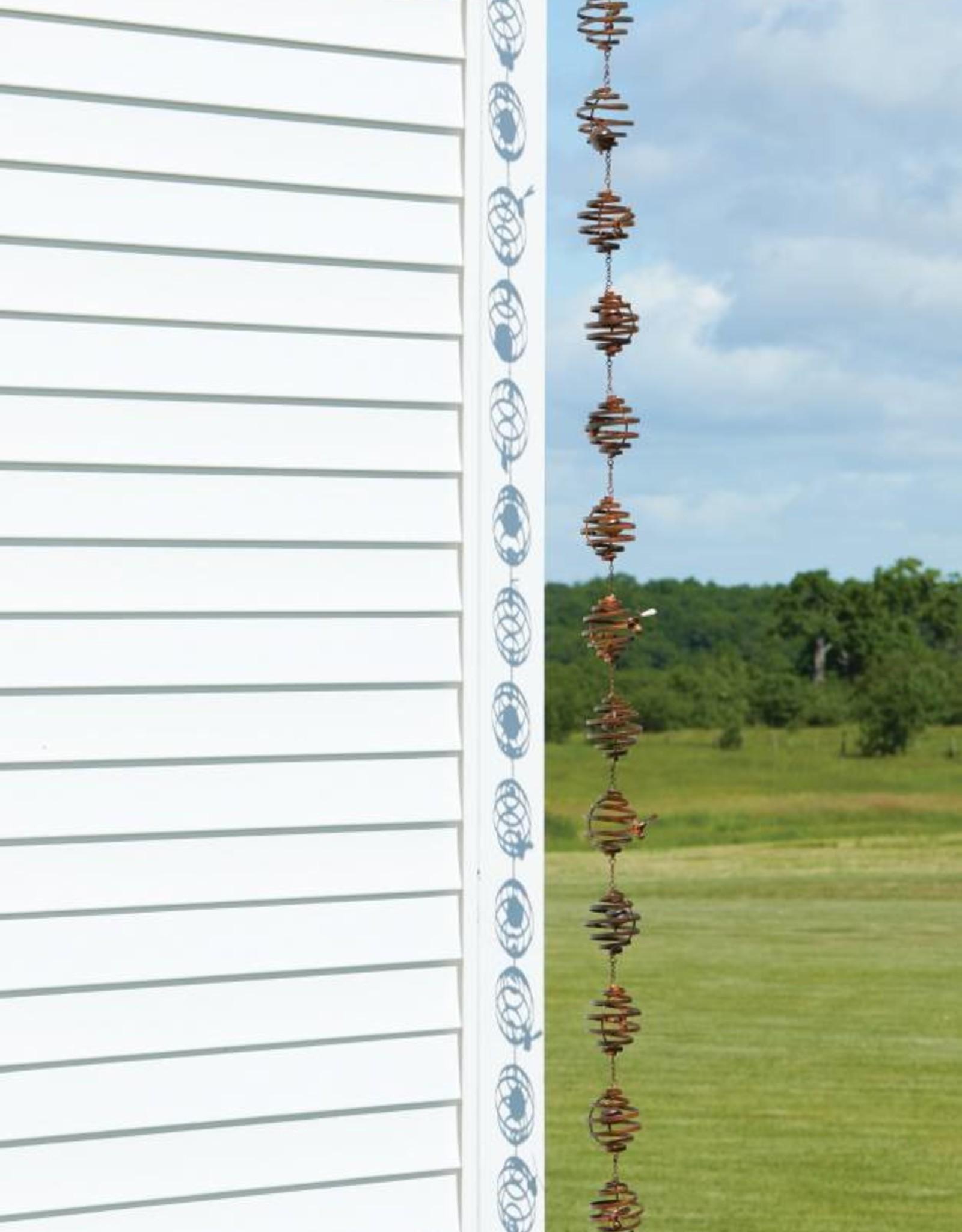 Rain Chain - Bee Spiral