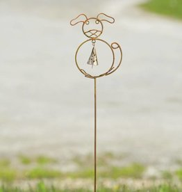 Garden Stake - Dog with Bell Stake