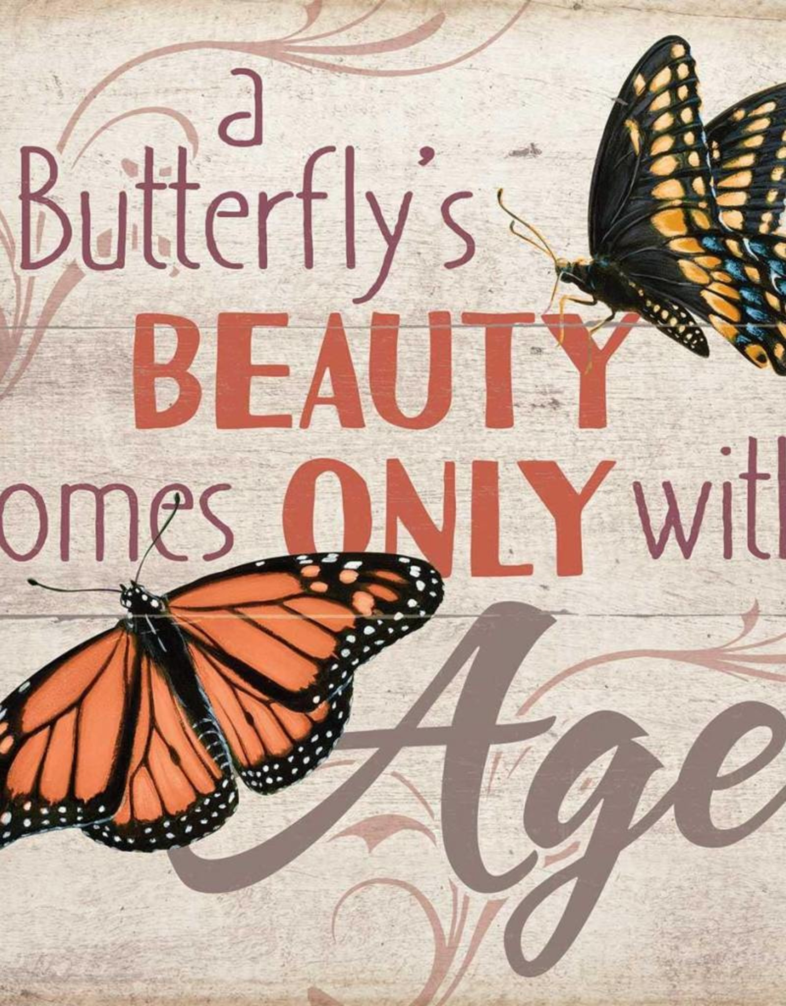 """A Butterfly's Beauty 10"""" x 10"""" Sign"""