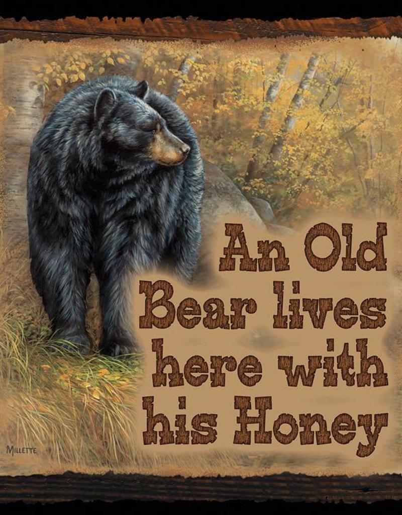 An Old Bear Lives Here LG Bear- Sign