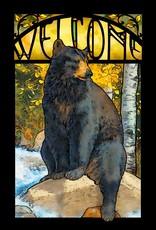 Black Bear Glass Art - LG