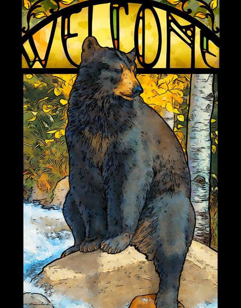 Black Bear Glass Art