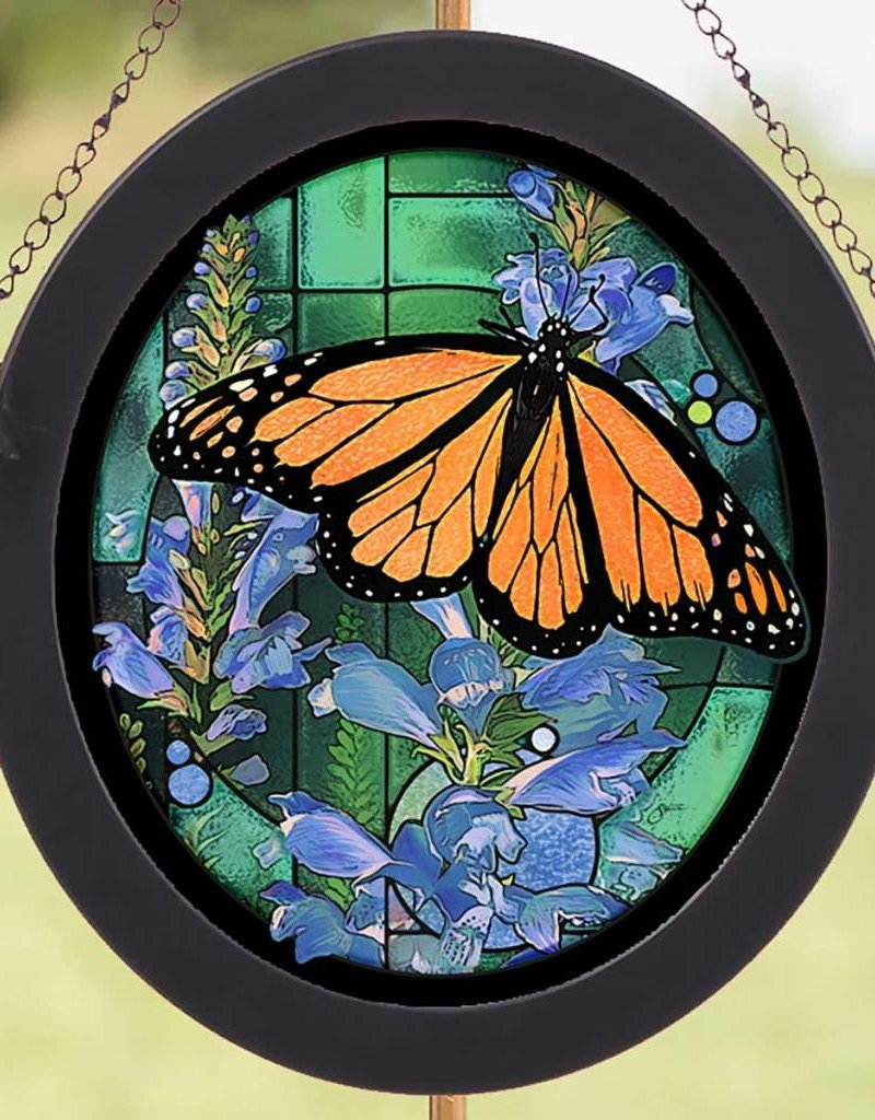 Monarch Butterfly Stained Glass Art
