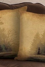 """Rustic Forest 18"""" Decorative Pillow"""