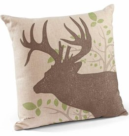 Whitetail Deer Decorative Pillow