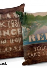 "Relax--You're on Lake Time 18"" Decorative Pillow"