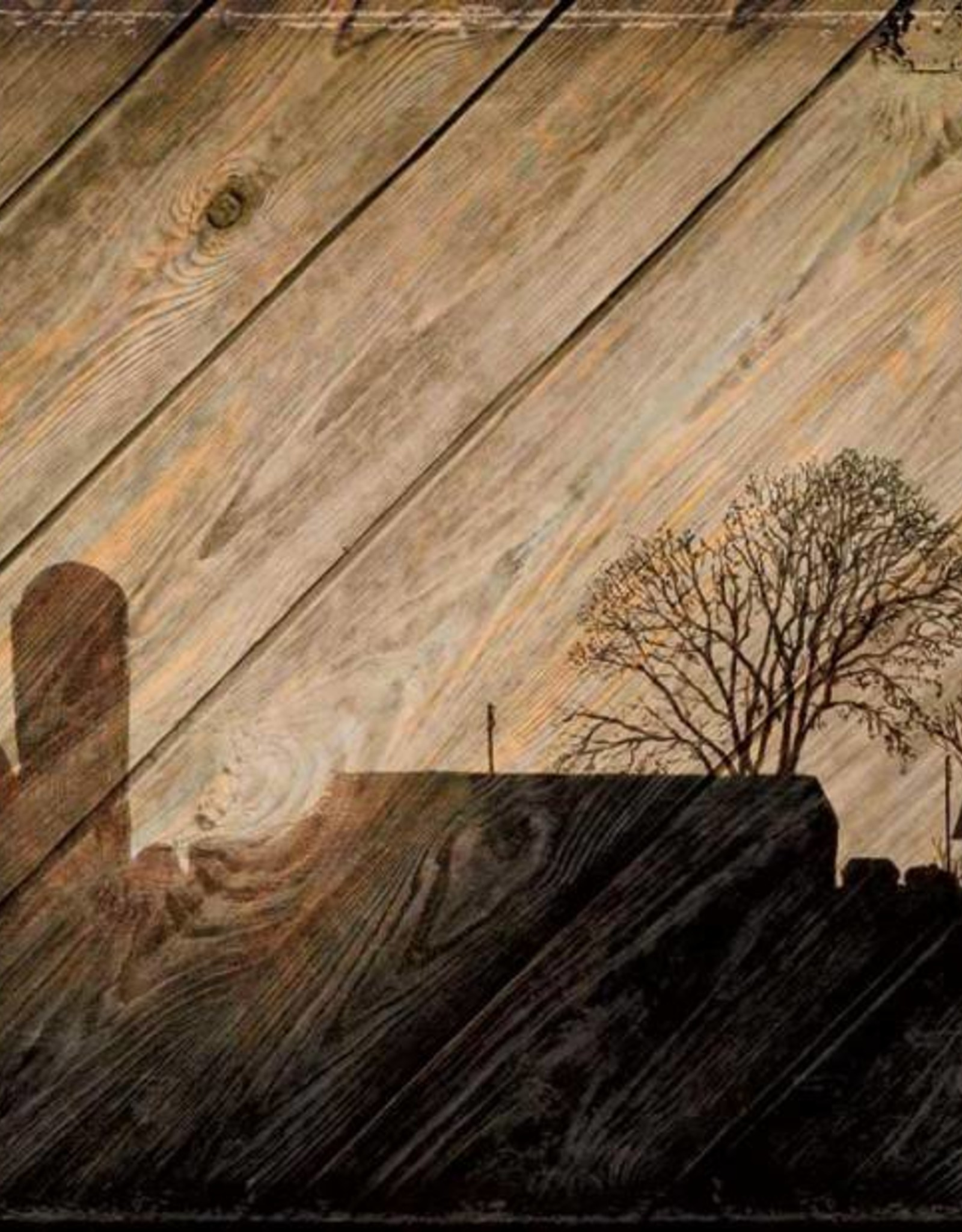 Wood Sign - Farm Silhouette