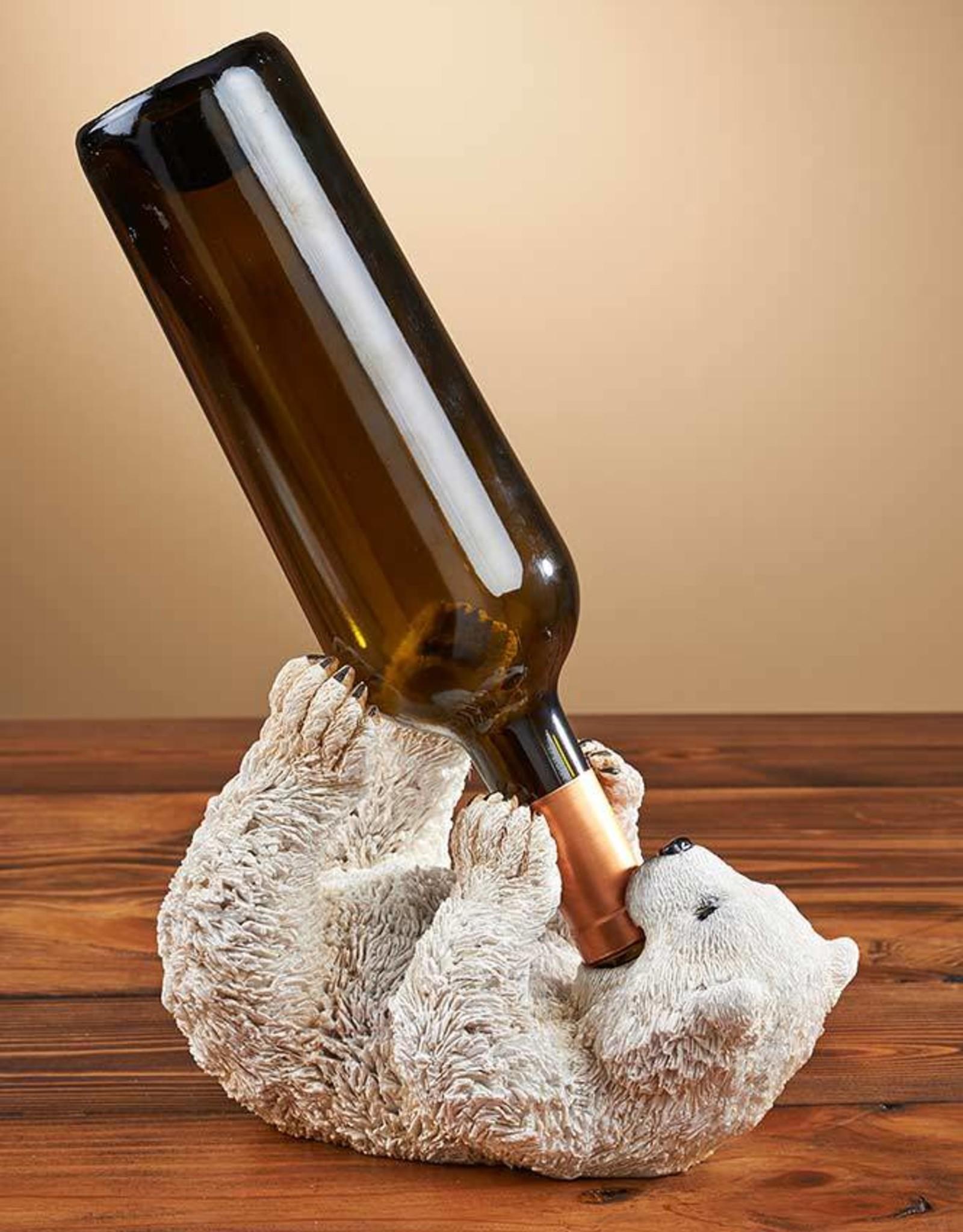 Polar Bear Wine Bottle Holder and Bank Combo