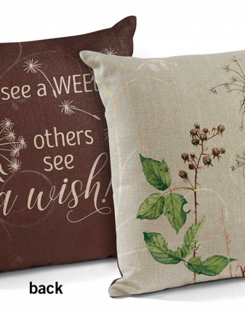 """See a Wish 18"""" Decorative Pillow"""