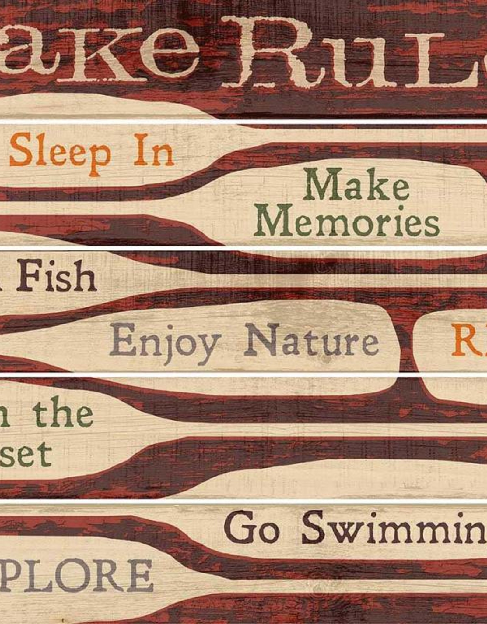 """Lake Rules 18"""" x 24"""" Pallet Sign"""