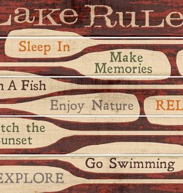 Lake Rules Pallet Sign