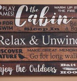 Pallet Sign - Cabin Relax & Unwind