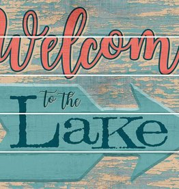 "Welcome to the Lake 18"" x 24"" Pallet Art Sign"