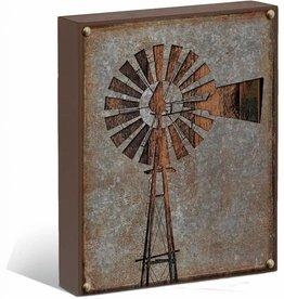 "Windmill Silhouette 12"" x 16"" Box Art Sign"
