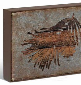 """Pine Sprig Silhouette 12"""" x 16"""" Box Art Sign by Persis Clayton Weirs"""