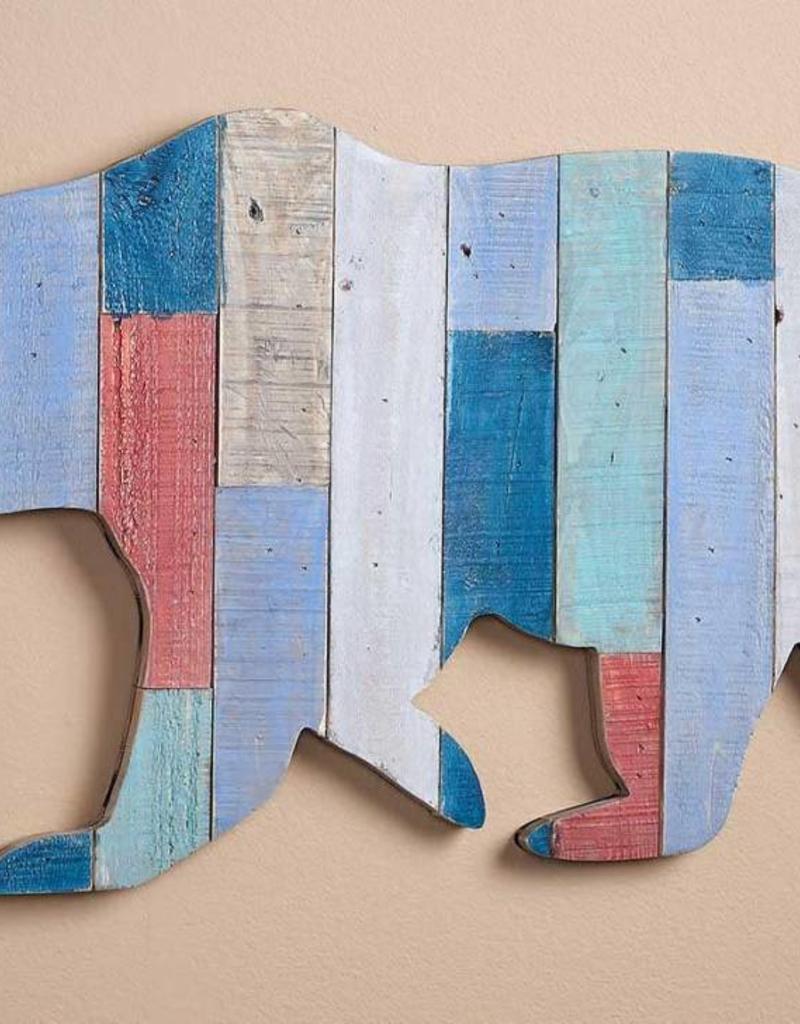 Slat Wood Wall Decor - Bear