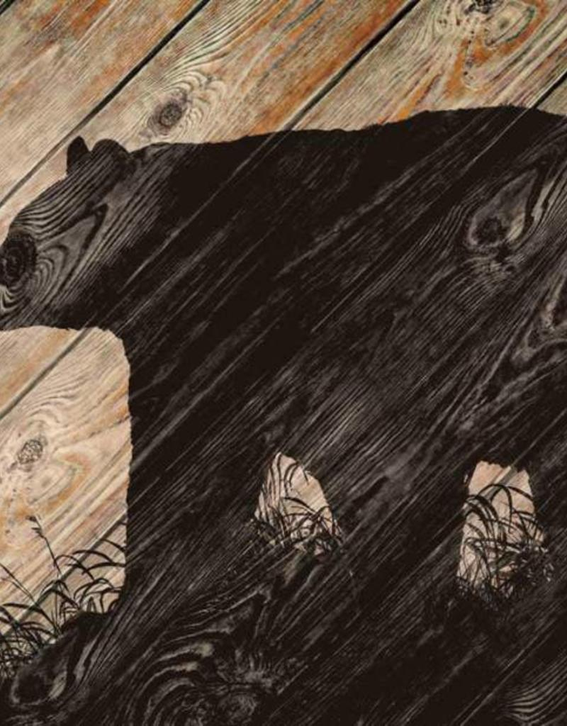 "Wood Wall Art - Bear Silhouette 18"" x 30"""