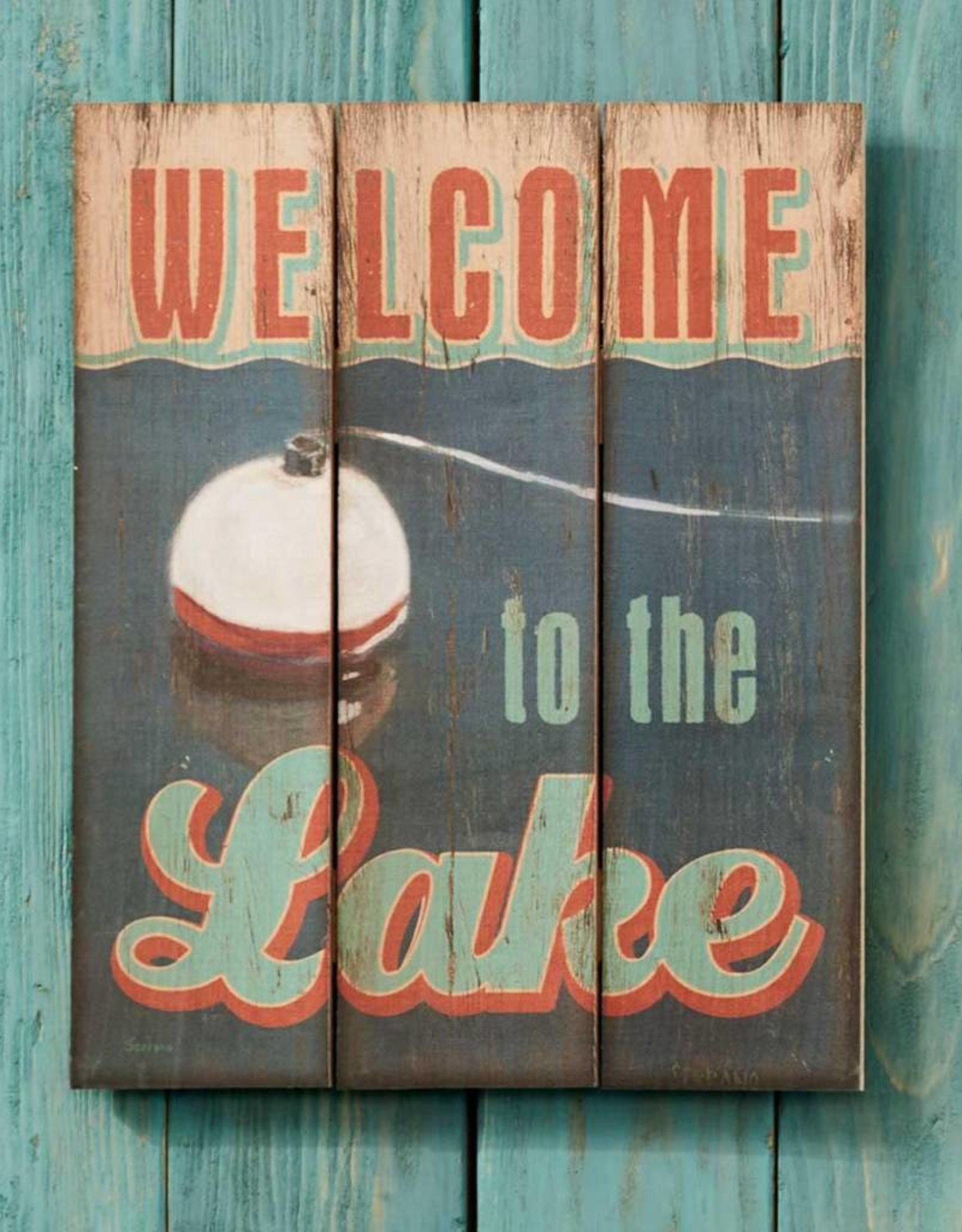 """Welcome to the Lake 14"""" x 18"""" Pallet Art"""