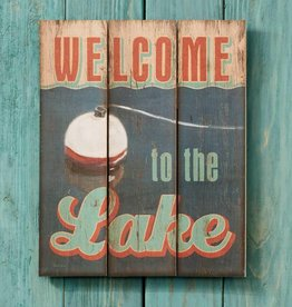 """Welcome to the Lake 14"""" x 18"""" Pallet Art Sign by Cherie Serrano"""