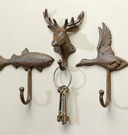 Wall Hook - Cast Iron Fish, Deer, Bird